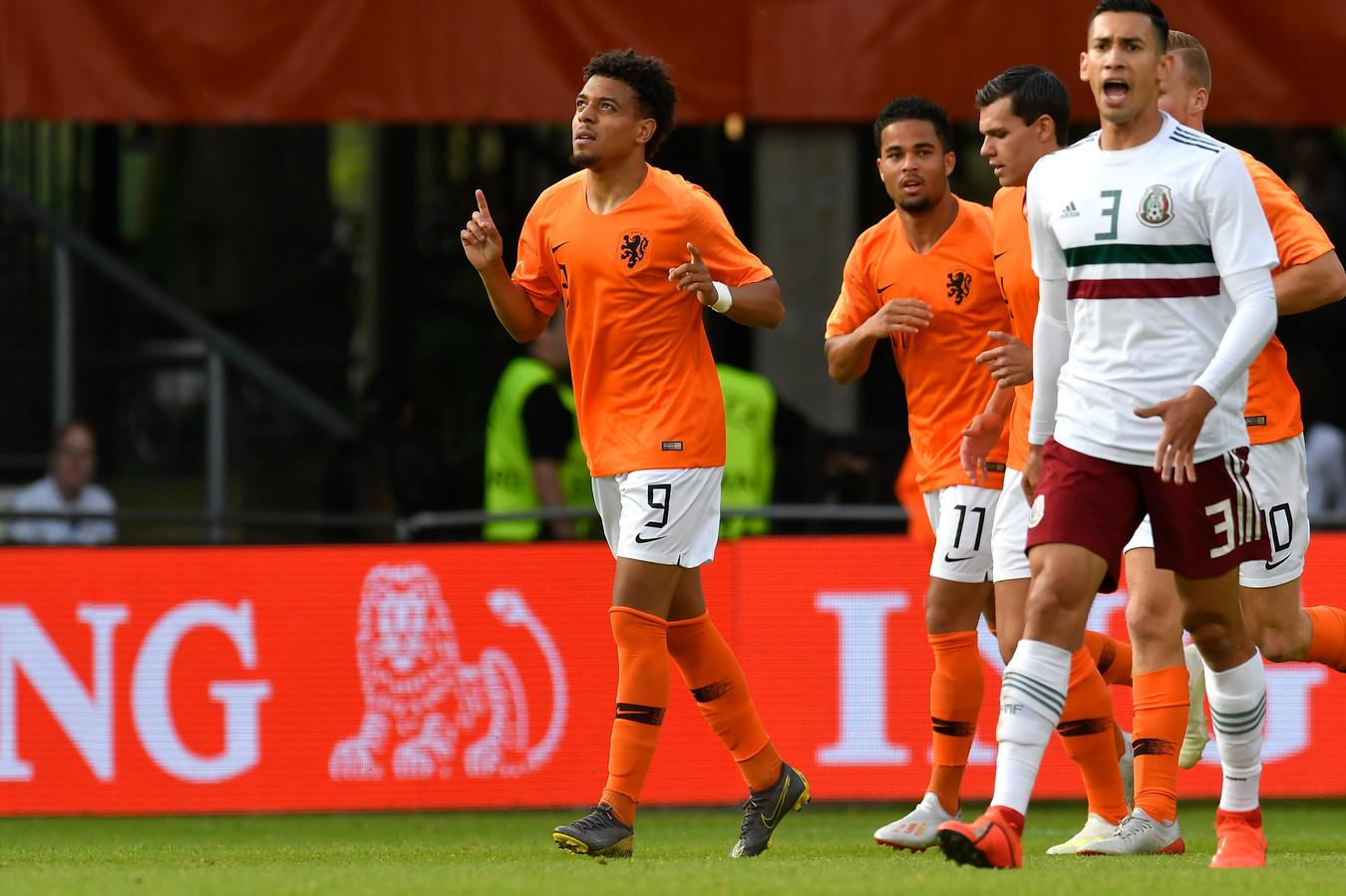 Donyell Malen scoorde eerder dit jaar nog namens Jong Oranje.