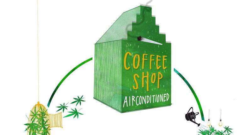 Het coffeeshopwereldje is flink opgeschud: uit het stadshart zijn er 22 verdreven, 19 moesten er weg bij scholen. Beeld  Merel Corduwener