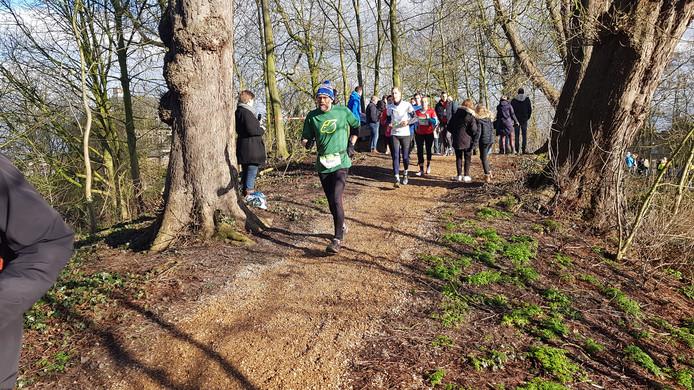 De deelnemers liepen de eerste minuten nog in de zon