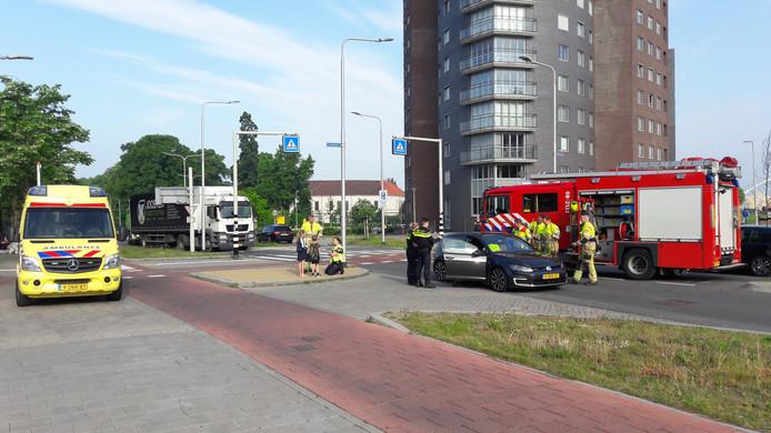 Ongeval met fietser op de Voorstadslaan in Nijmegen.
