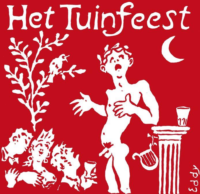 Logo van Het Tuinfeest, zaterdag 5 augustus in en om Theater Bouwkunde.