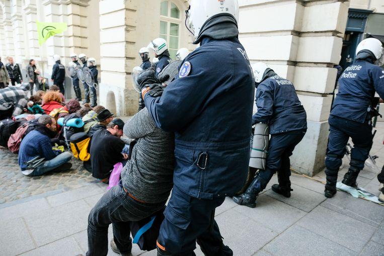 Extinction rebellion arrestaties Brussel