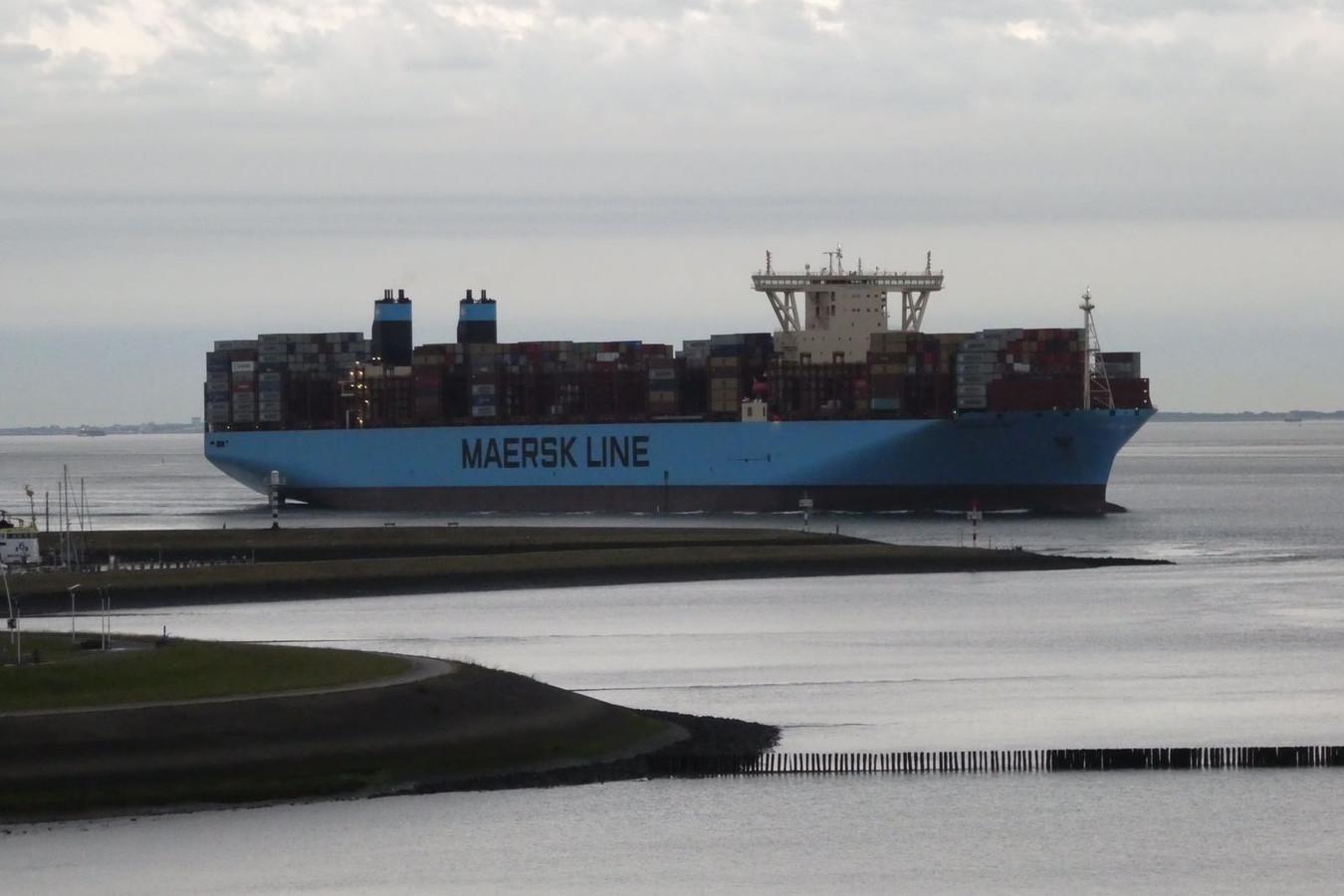 Indrukwekkende Madrid Maersk op de Westerschelde | Foto | AD nl