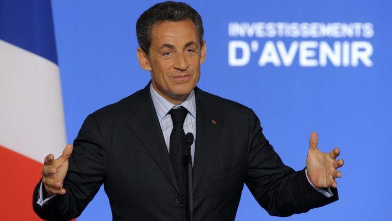 De Franse president, Nicolas Sarkozy. Beeld reuters