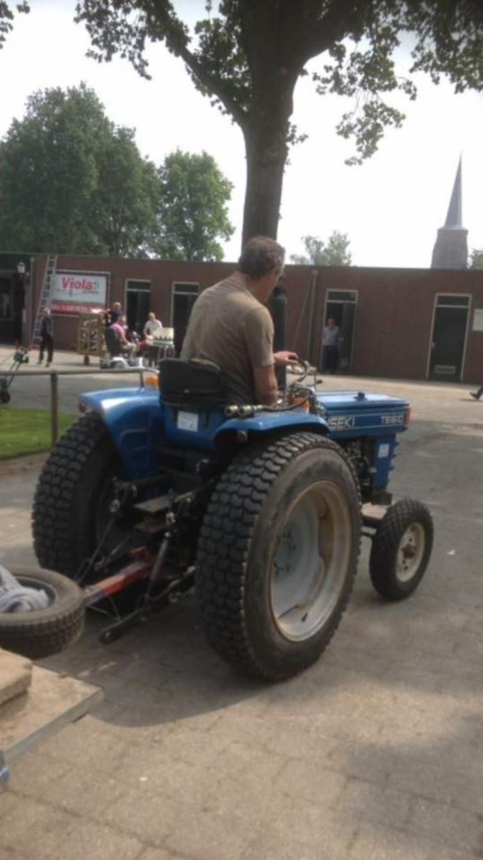 De tractor die werd gestolen.