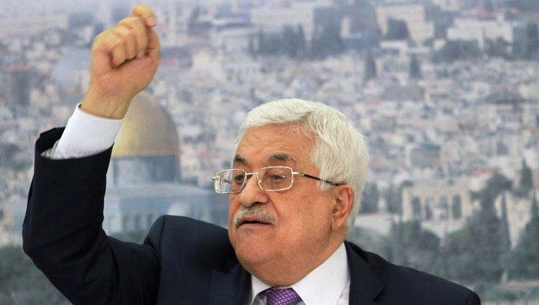 De Palestijnse president Mahmoed Abbas volgt al twee jaar een eenzijdige diplomatieke route. Beeld ap