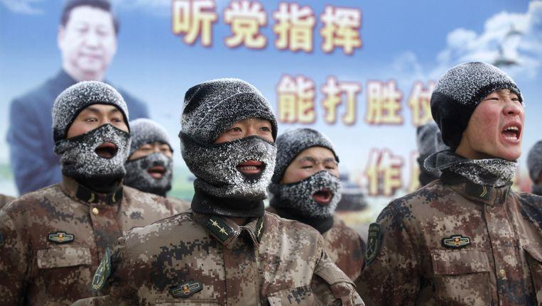 In delen van China is de temperatuur gezakt tot min 37.