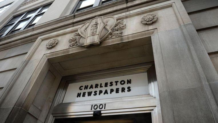 Het gebouw van de uitgever van de Charleston Gazette-Mail in Charleston. Beeld Kenny Kemp