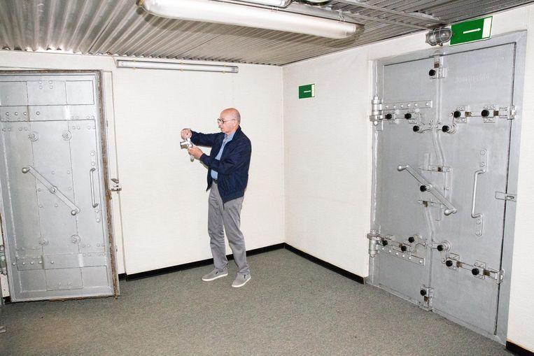 Een beeld uit de bunker onder het Citadelpark