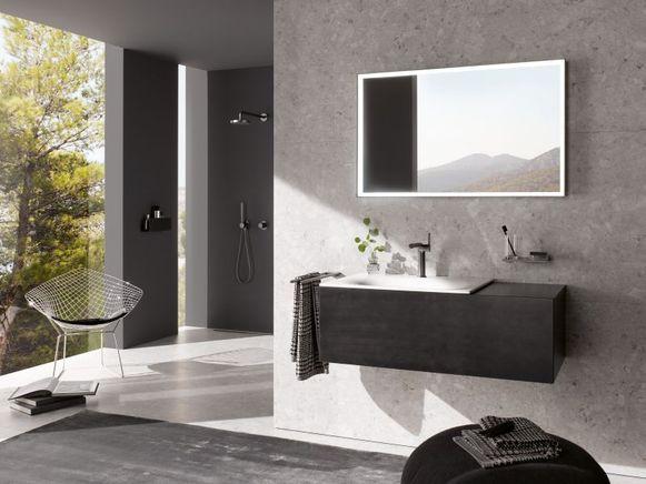 Less is more met eenvoudige strakke badkamer.
