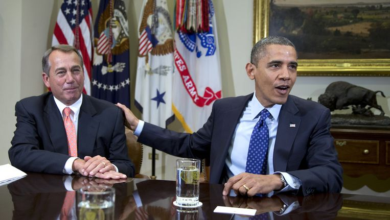 John Boehner en Barack Obama Beeld ap