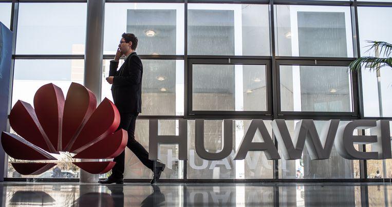 Het logo van Huawei. Beeld null