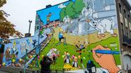 203 vierkante meter grote stripmuur toont Jommeke en zijn vriendjes