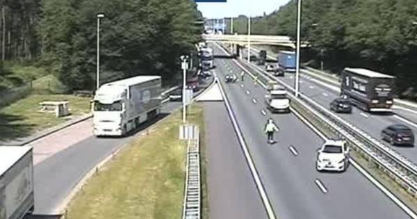Ongeluk op A58 bij Moergestel, rijbaan korte tijd dicht richting Eindhoven.