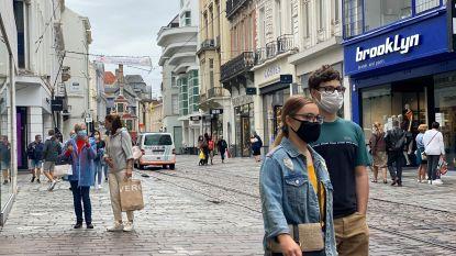 Zo goed als iedereen draagt masker in stadscentrum, problematischer in schakelstraten
