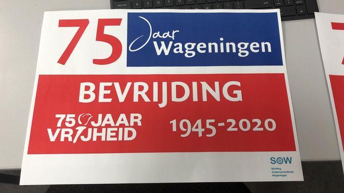 De poster die Wageningers op 5 mei voor hun raam kunnen hangen.
