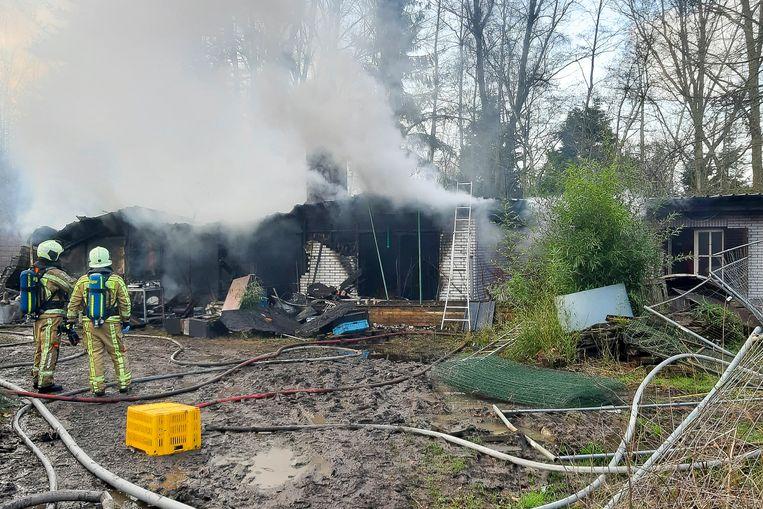 Chalet in Elewijt brandt uit.