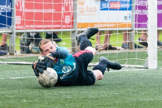 Jamie Dekkers van Spero tijdens de wedstrijd tegen SC Bemmel in 2018.