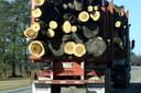 Een truck op weg naar een pelletfabriek.