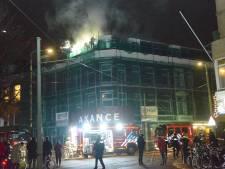 Zoutmanstraat afgesloten om brand in kantoorpand
