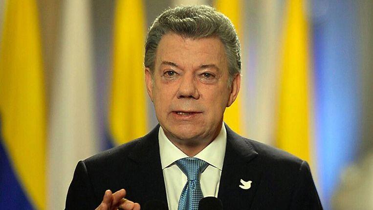 President Juan Manuel Santos. Beeld EPA