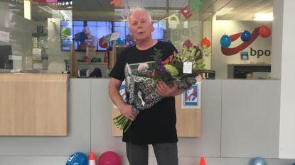 Werknemers bpost verrassen collega Paul die op pensioen gaat