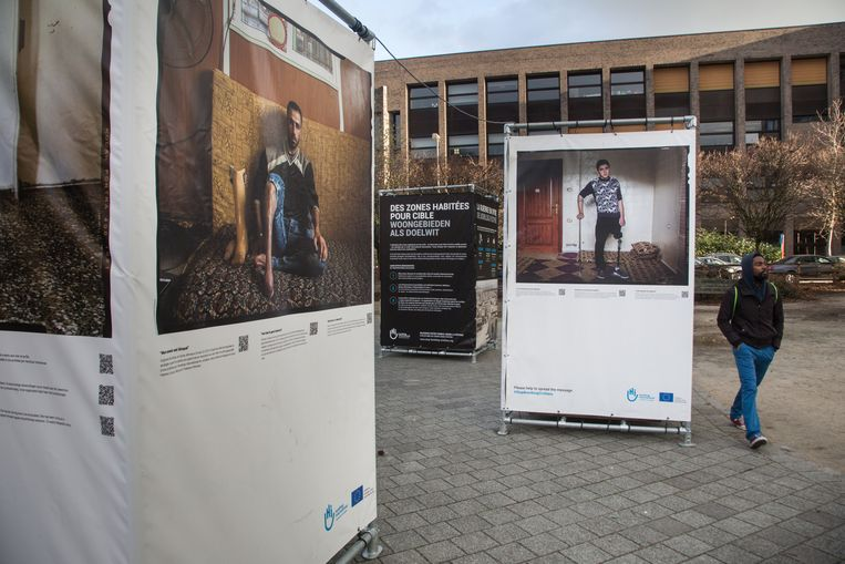 """De tentoonstelling """"Gebombardeerd"""" in Hasselt."""