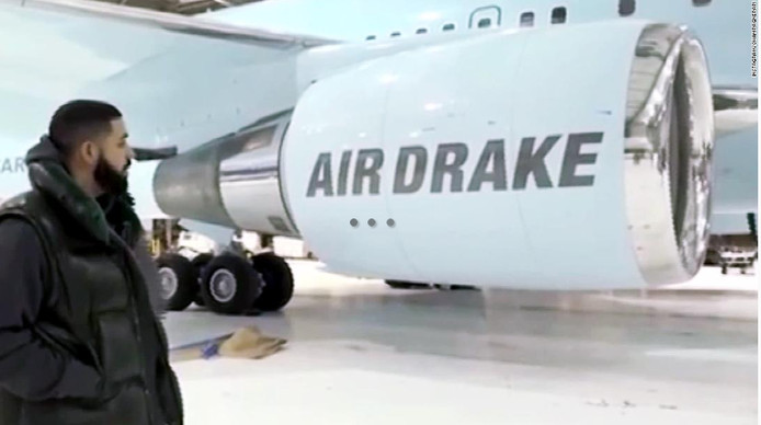 Drake met de Air Drake