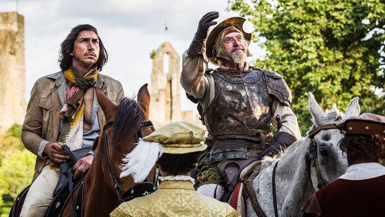 Adam Driver (l) als Toby en Jonathan Pryce als Don Quichot Beeld Tornasol Films