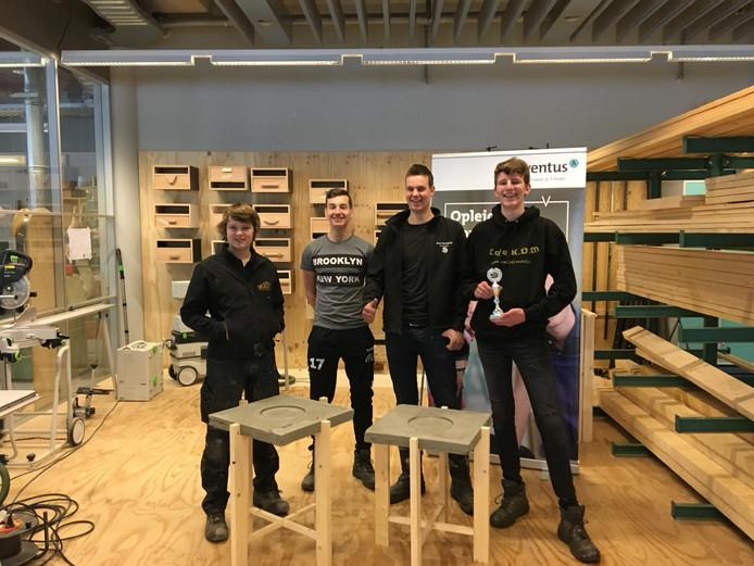Joel Paijers, Hidde Ruesink, Rico Hoog Antink en Quincy ten Have zijn de winnaars bij Bouw, Wonen en Interieur.