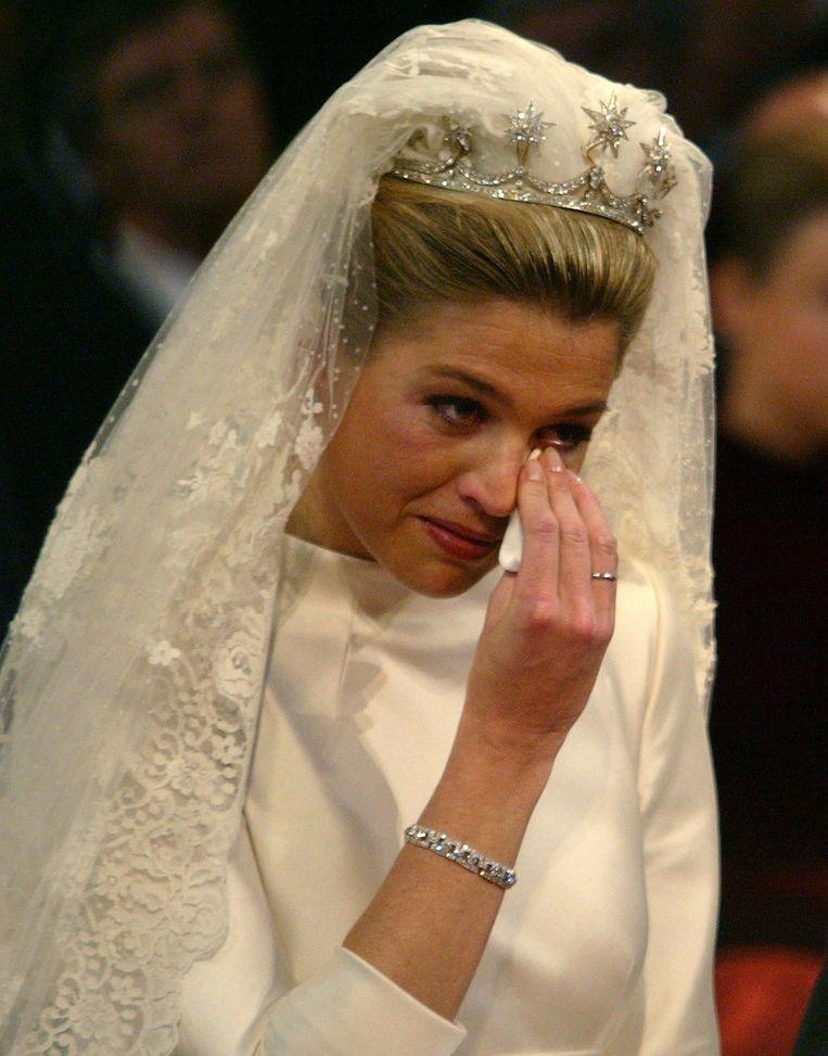 Máxima, tijdens de inzegening van haar huwelijk, 2002. Beeld ANP