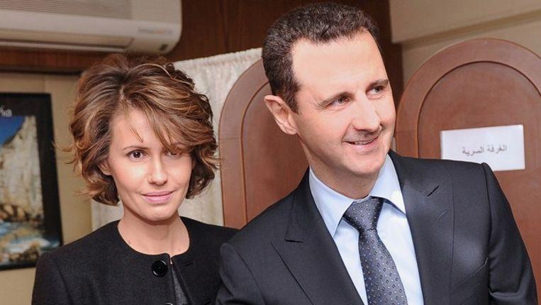Asma en Bashar al-Assad Beeld null
