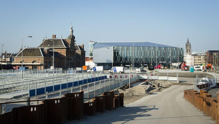 De nieuwe spoorzone gaat Delft 140 miljoen euro meer kosten dan was begroot. Beeld ANP