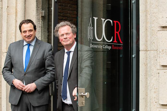 Directeur-bestuurder Jorrit Snijder (links) en dean Bert van den Brink van het UCR.