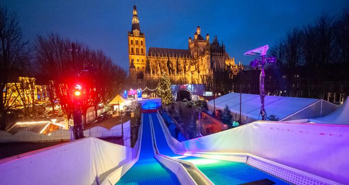 Het Bosch Winterparadijs op de Parade in aanbouw