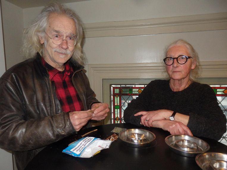 Wim Pelt ('Leraar. Maatschappijleer natuurlijk.') en oud-verpleegkundige Willemijn Last. Pelt zag Nico optreden. Een ramp Beeld Schuim