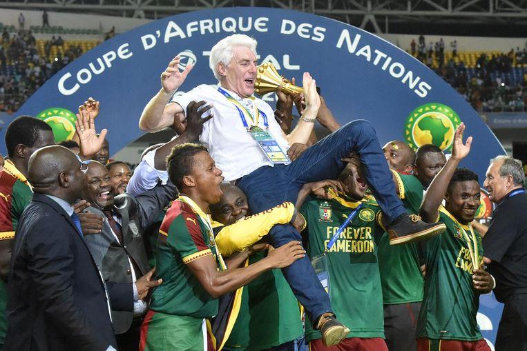 Hugo Broos won in 2017 de Africa Cup met Kameroen.