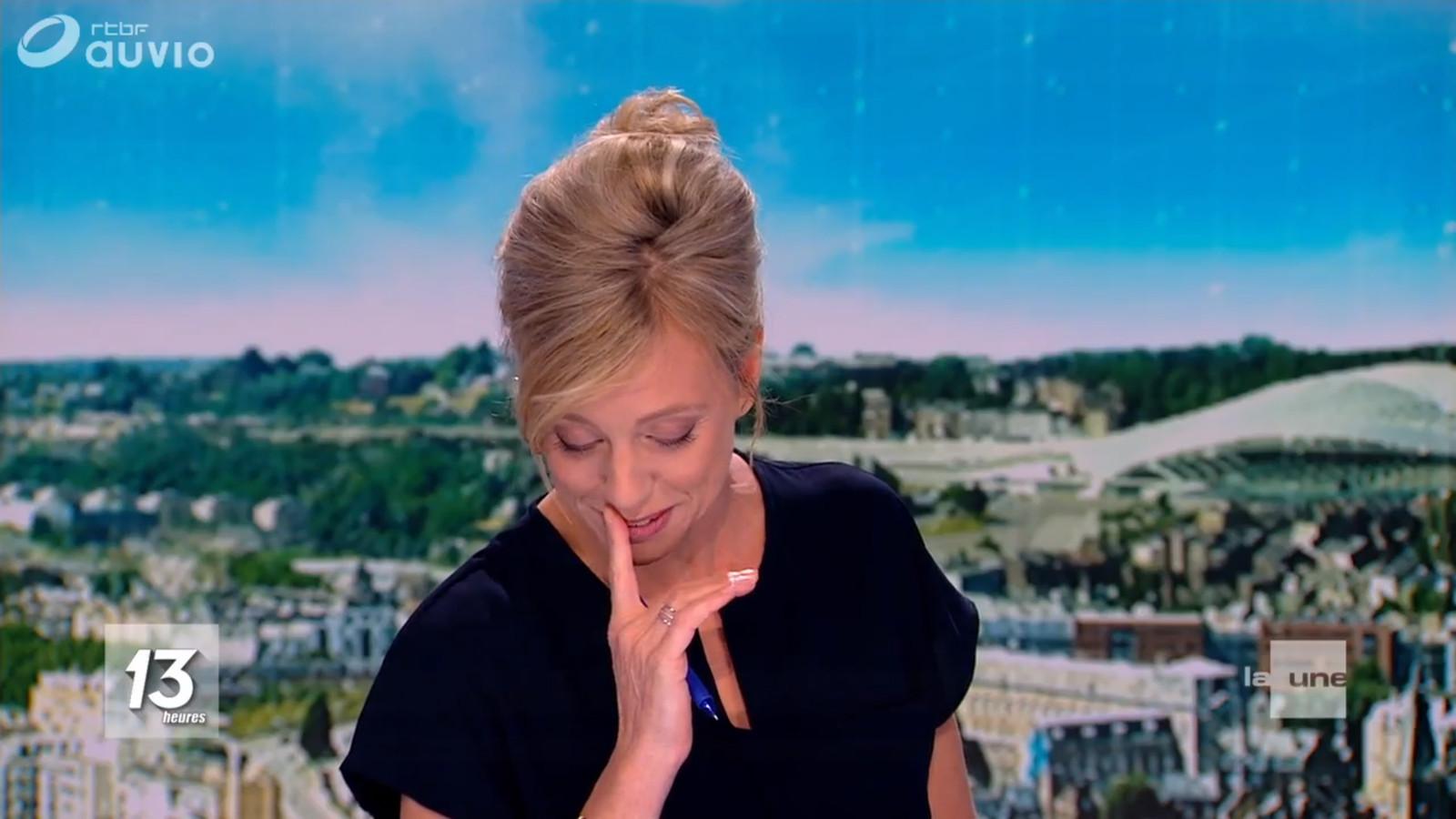 Nathalie Maleux n'a pas pu retenir ses larmes après la diffusion du reportage sur les retrouvailles du vétéran américain et de son premier amour.