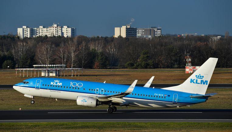 Als voorwaarde voor miljardensteun vanuit de overheid moet KLM de kosten flink omlaag brengen. Hoe, dat mogen ze zelf weten, aldus Hoekstra. Beeld Hollandse Hoogte / AFP