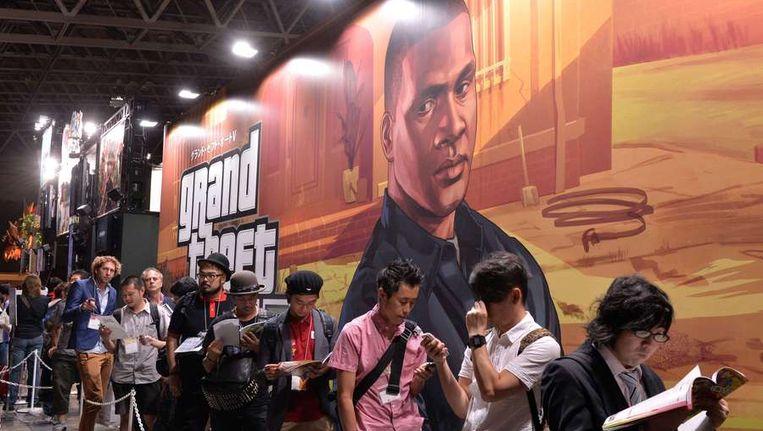 In de rij voor Grand Theft Auto V. Beeld afp