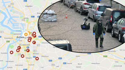 IN KAART. Ook deze Antwerpse plaatsen werden recent opgeschrikt door drugsgeweld
