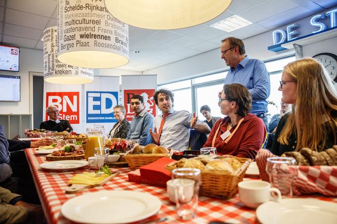 Etten-leur - 23-2-2017 - Lezersbijeenkomst op de redactie van BN DeStem in aanloop naar de verkiezingen. Vandaag Groenlinks-lijsttrekker Jesse Klaver.