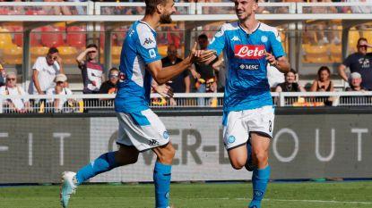 Napoli scoort vier keer in Lecce, Mertens wordt gespaard