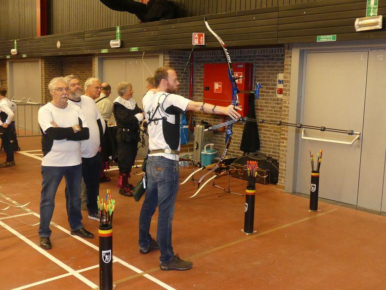 De meer geoefende schutters testten hun skills.