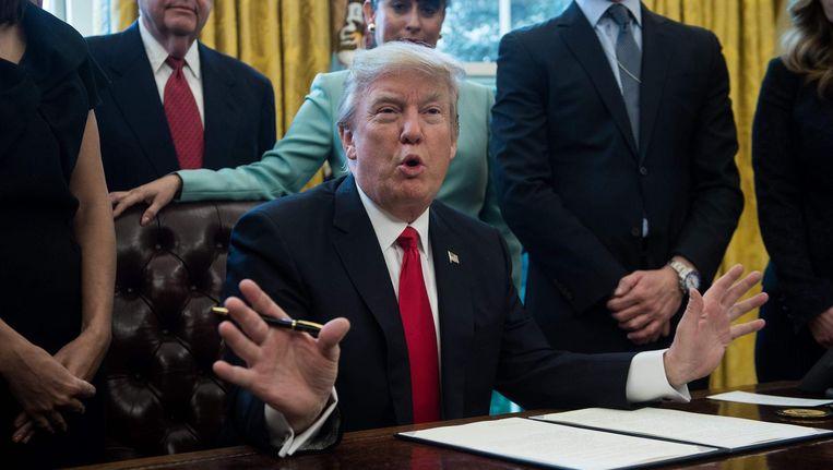De Amerikaanse president Donald Trump. Beeld AFP