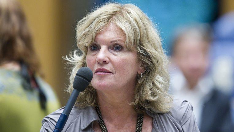 Pia Dijkstra in de Tweede Kamer. Beeld anp