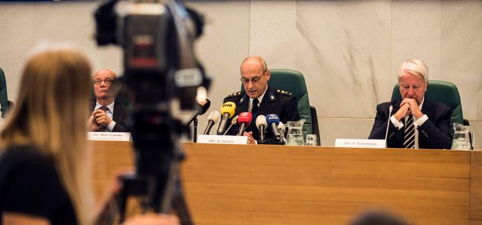 Een eerdere persconferentie over het handelen van de politie in de zaak Linda van der Giesen.