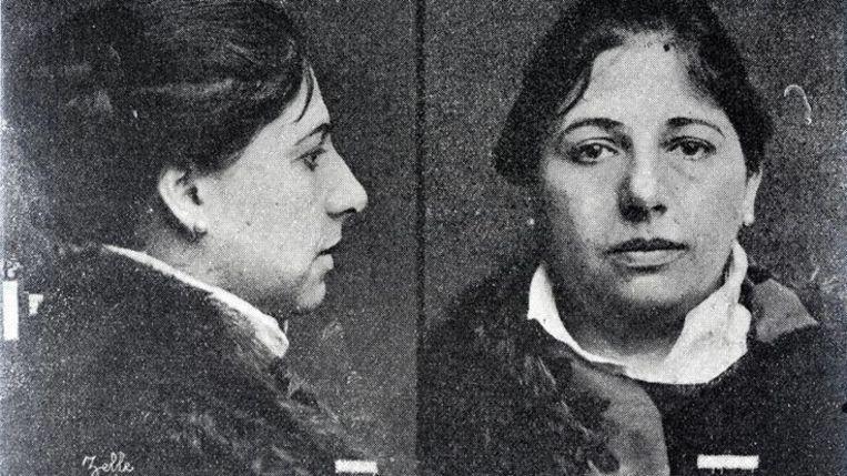 Margaretha Zelle op de dag van haar arrestatie.
