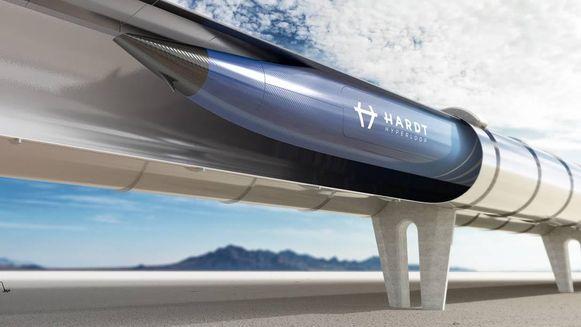 Indien de hyperloop ooit realiteit wordt, zou hij er zo uit kunnen zien.