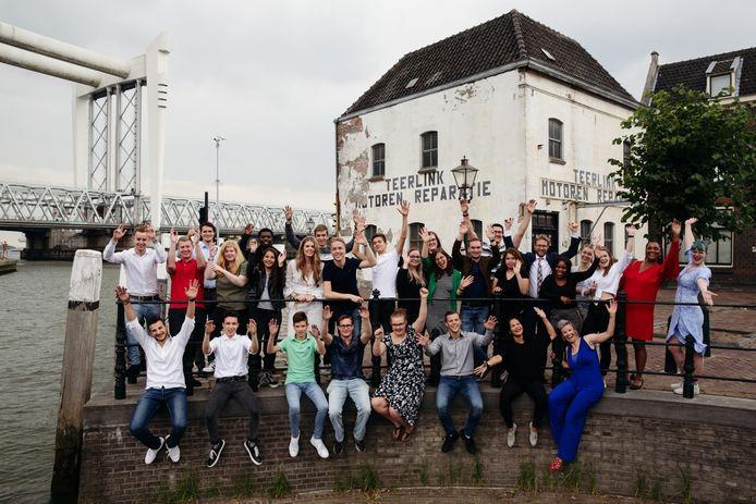 De deelnemers van het project ZomerOndernemer.